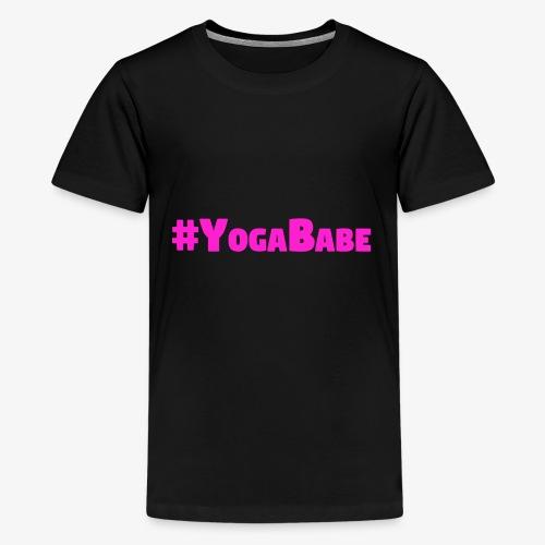 # Yoga Babe Logo translucent background - Kids' Premium T-Shirt
