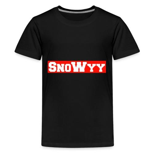 Red/White SnoWyy - Supreme Like Style - Kids' Premium T-Shirt