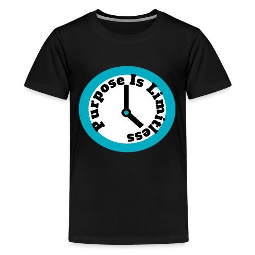 Clock limitless white - Kids' Premium T-Shirt