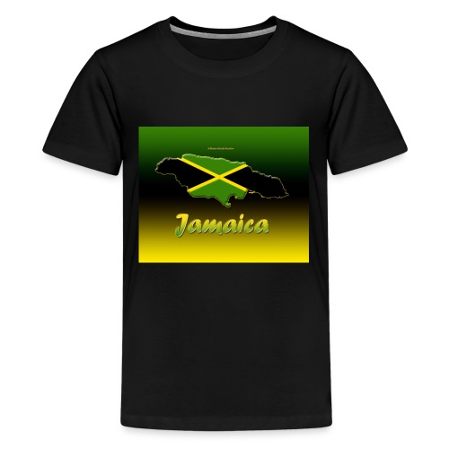 Jamaica map t shirt - Kids' Premium T-Shirt