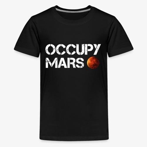 Occupy Mars Elon Musk Joe Rogan Smoking Weed - Kids' Premium T-Shirt