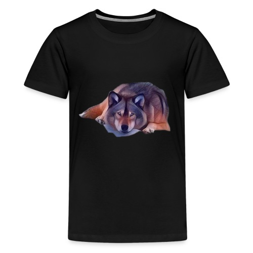 LOBO EN CALMA - Kids' Premium T-Shirt