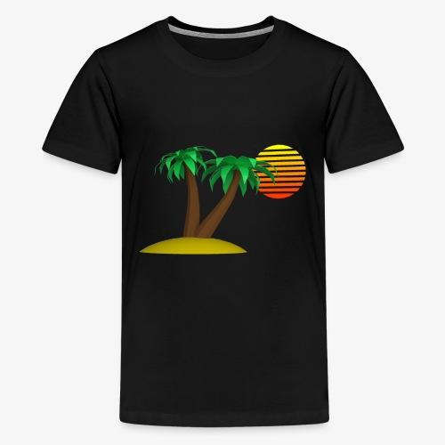 Palm Trees and Sun - Kids' Premium T-Shirt