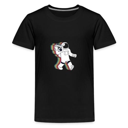 Rainabow astronaut with radio...? - Kids' Premium T-Shirt