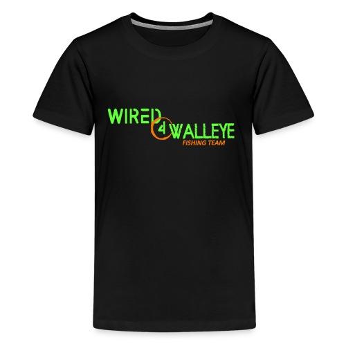 Green on Orange Logo - Kids' Premium T-Shirt