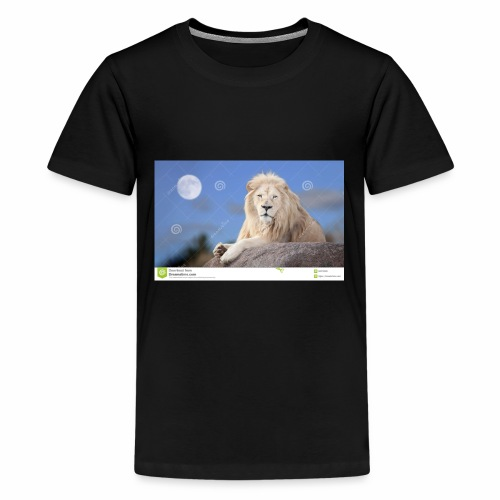white lion moon light 62073026 - Kids' Premium T-Shirt