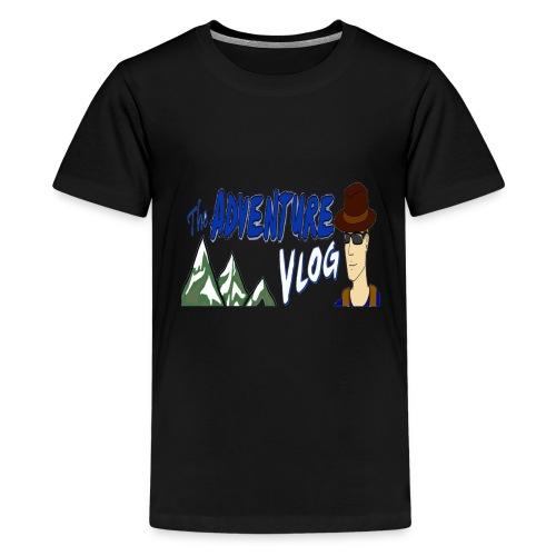 adventure vlog big image - Kids' Premium T-Shirt