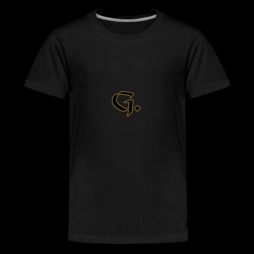 Black G with Gold Edges - Kids' Premium T-Shirt