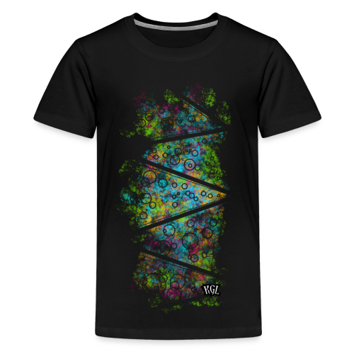 Colorful lines and circles - Kids' Premium T-Shirt