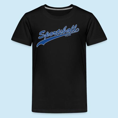 Sportsball (Blue & Silver) - Kids' Premium T-Shirt
