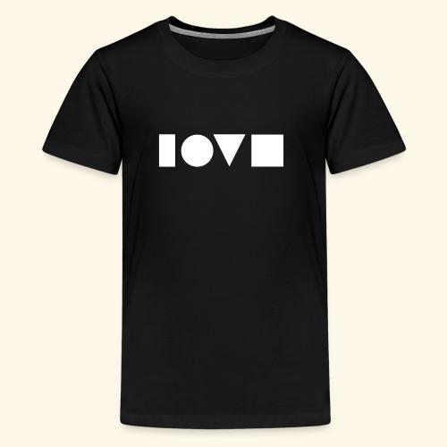 The Shape of Love - Kids' Premium T-Shirt