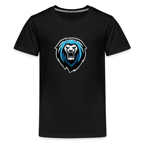New NvarPlayzGamez Branding!! Cool Animated Lion - Kids' Premium T-Shirt