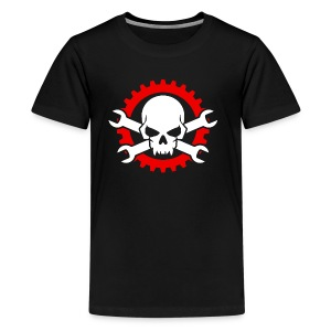 Gearhead Skull and Crossed Wrenches - Kids' Premium T-Shirt