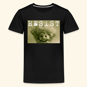 Warm Vintage RESIST the Troll - Kids' Premium T-Shirt
