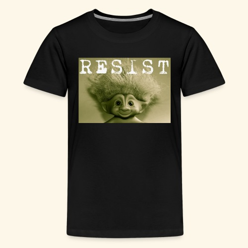 Warm Vintage RESIST the Troll - Kids' Premium T-Shirt