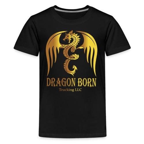 Dragon Born Logo Style 1 Gold - Kids' Premium T-Shirt