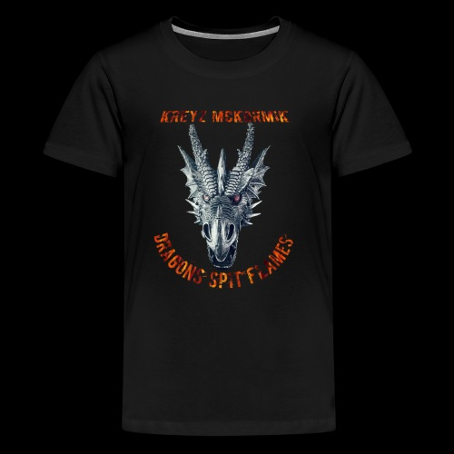 Dragon Spit Flames - Kids' Premium T-Shirt