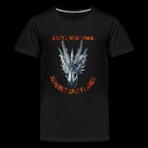 Dragon Spit Flames - Kids' Premium T-Shirt