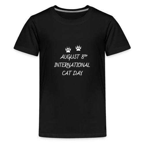 international cat day - Kids' Premium T-Shirt