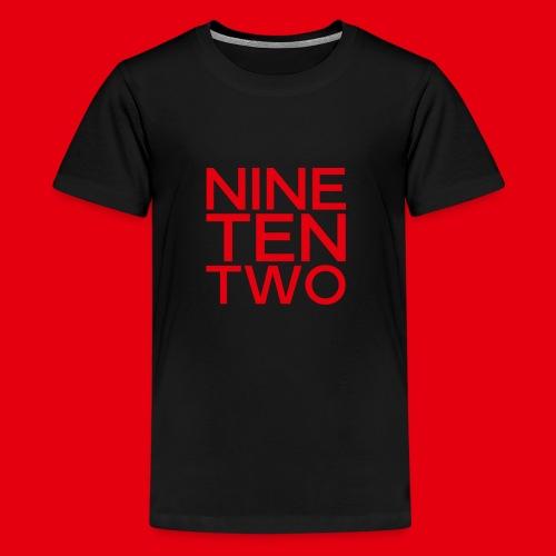 Red NineTenTwo Logo Text - Kids' Premium T-Shirt