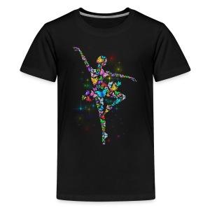 Ballerina - Butterfly - Ballet - Kids' Premium T-Shirt