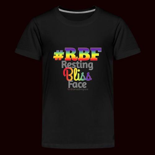 Resting Bliss Face RAINBOW #RBF #PRIDE - Kids' Premium T-Shirt