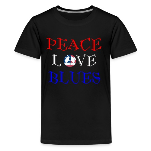 Peace, Love and Blues - Kids' Premium T-Shirt