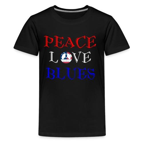 Peace, Love and Blues - Kids' Premium T-Shirt