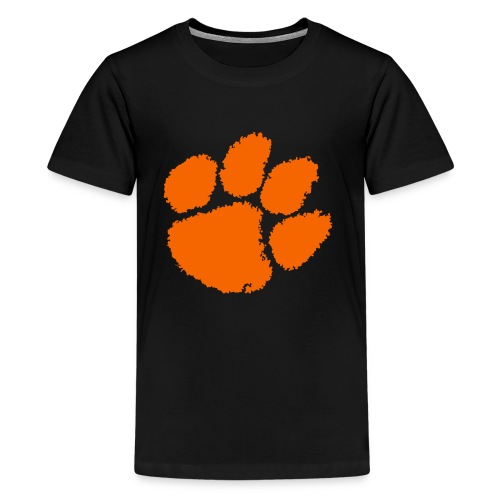 Clemson University Tiger Paw logo svg - Kids' Premium T-Shirt