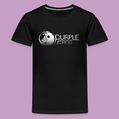 PurpleF LogoWhite Small Copy - Kids' Premium T-Shirt