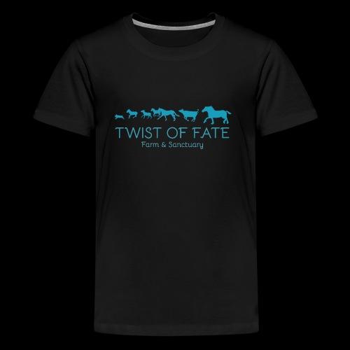 Twist of Fate Farm and Sanctuary Logo - Kids' Premium T-Shirt