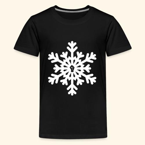 snowflake vector white - Kids' Premium T-Shirt