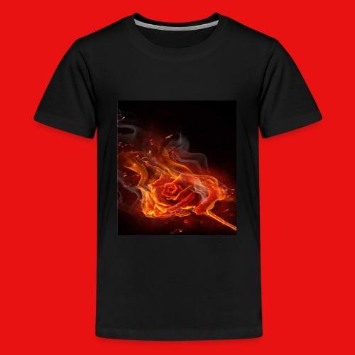 Burning Rose - Kids' Premium T-Shirt