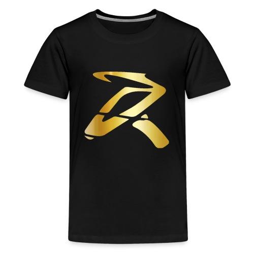 Rizz R Logo GOLD - Kids' Premium T-Shirt