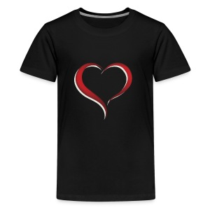 expressing love with a heart - Kids' Premium T-Shirt