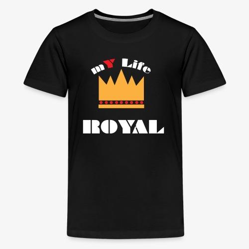 myliferoyal white print - Kids' Premium T-Shirt