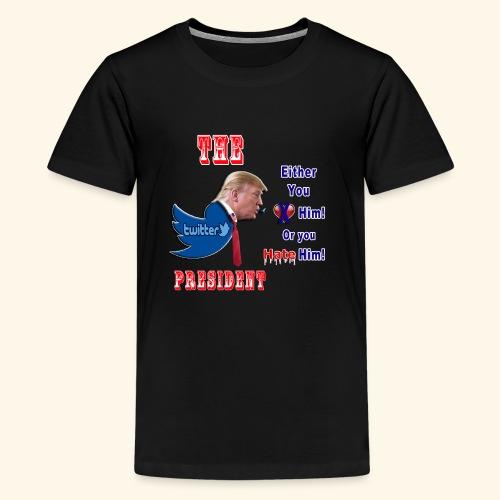 8D HATE TrumpTwitterBird - Kids' Premium T-Shirt