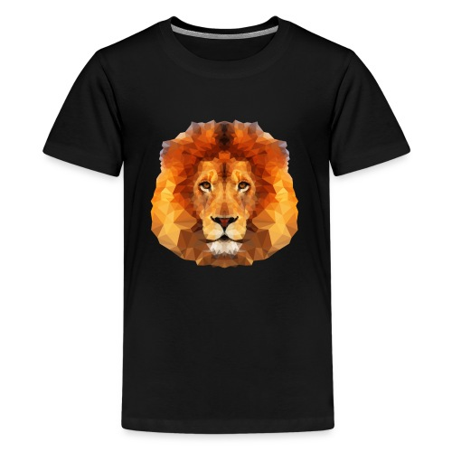Low Poly Lion Face - Kids' Premium T-Shirt
