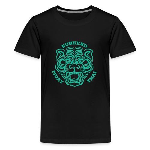Tiger Print green - Kids' Premium T-Shirt