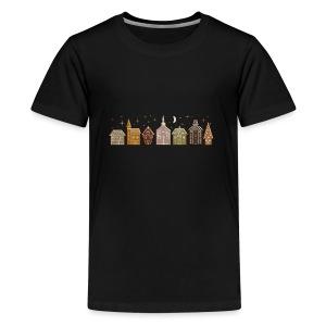 Gingerbread Row Houses - Kids' Premium T-Shirt