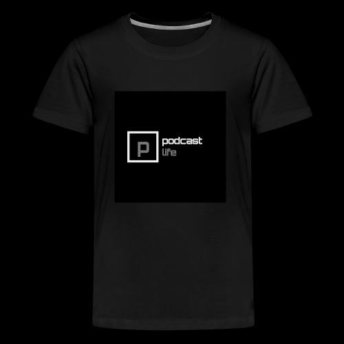 Podcast Life - Black Background - Kids' Premium T-Shirt