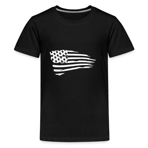 USFlagWhite - Kids' Premium T-Shirt