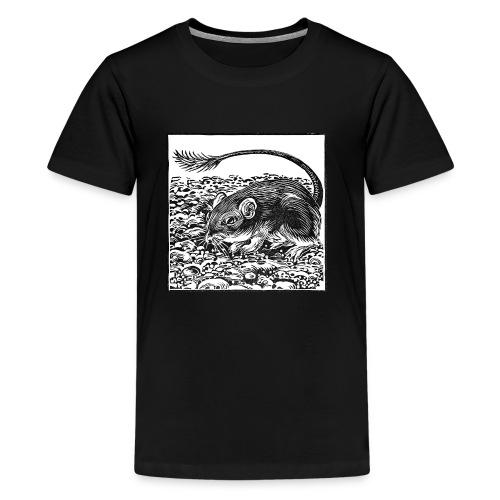 Pocket Mouse Linocut - Kids' Premium T-Shirt
