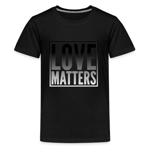 love matters black gradient - Kids' Premium T-Shirt