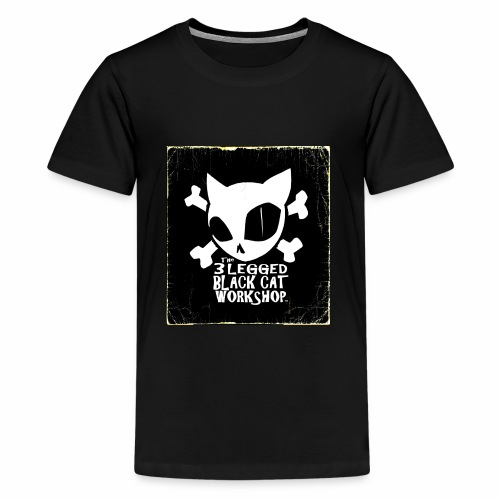 THE 3 LEGGED BLACK CAT WORKSHOP shirt - Kids' Premium T-Shirt