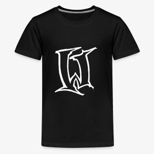Wreck W white on black - Kids' Premium T-Shirt