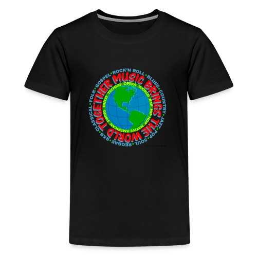 Music Brings the World Together - Kids' Premium T-Shirt
