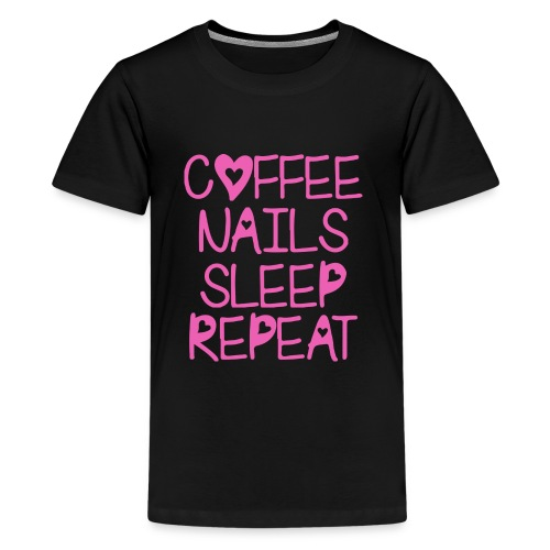 Coffee Nails Pink - Kids' Premium T-Shirt