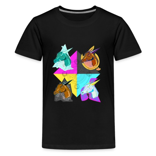 four elemental dragons - Kids' Premium T-Shirt