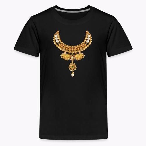 indian necklace jewelry gemstone bling tshirt / cu - Kids' Premium T-Shirt